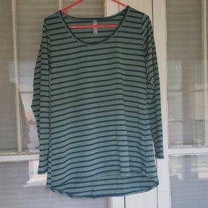 Lularoe Lynnea Long Sleeve Striped Top